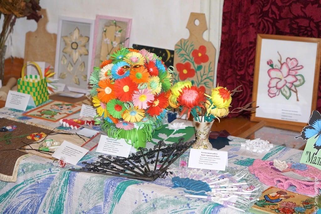 Выставка декоративно-прикладного творчества в п. Максатиха