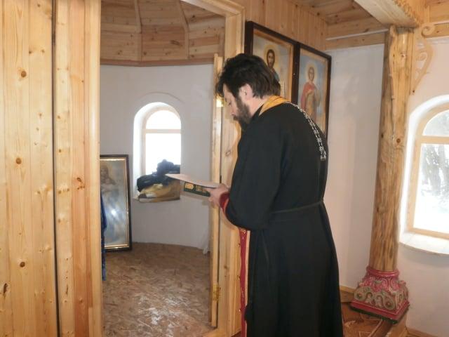Богослужение в храме-часовне с. Сидорково Максатихинского района