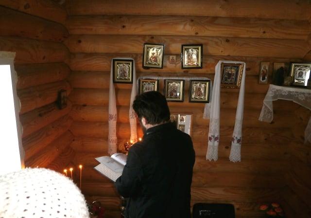 Первое Богослужение в часовне д. Селище Максатихинского района