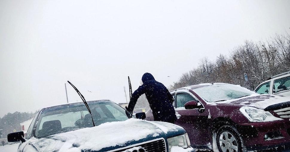 Снегопад в Максатихинском районе 7 ноября 2016 года